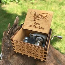 Over The Rainbow Wizard of Oz Wooden Music Box Toy Gift Ideas Vintage