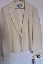 W Worth Women New Jacket Ivory Pearl Linen Silk Chiffon Fringe Blazer Sz 20 XL