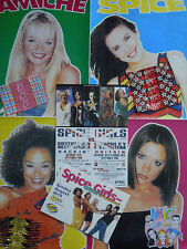 SPICE GIRLS - POSTER + FLYER + CARTOLINA + WRAPPERS, ITALY/UK. RARI***