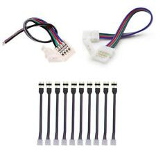 10mm 4 Pin RGB LED Strip Light Connector Snap Clip Adapter Coupler to Wire PCB