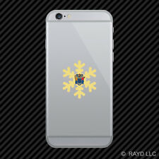 New Jersey Snowflake Cell Phone Sticker Mobile NJ snow flake snowboard skiing