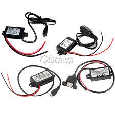 DC-DC 12V to 5V Mini/Micro/A type USB Dual Converter Step Down Power Module