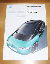 VOLKSWAGEN DESIGN STUDY BROCHURE VW-DOKUMENTATION SCOOTER CONCEPT CAR