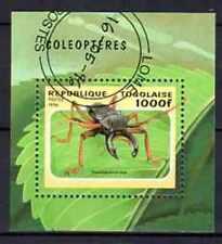 Animaux Insectes Coléoptères Togo (40) bloc oblitéré