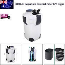 Aquarium External Canister Filter Aqua Fish Tank UV Light Media Kit 1400l/h