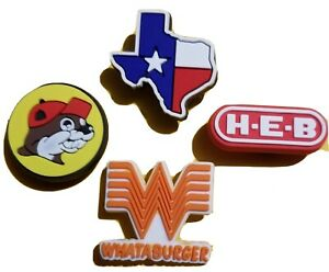 TEXAS TRADITIONS! Shoe Charms! NEW 4 PC Set! For Crocs, Crafts, Bracelets