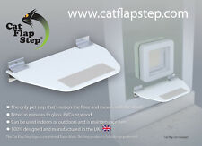 Cat Flap Step. A unique 'floating' pet step designed for high-up cat flaps.