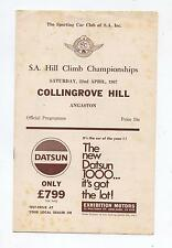 1967 Collingrove Hill Climb Programme Touring Racing Sports Vintage Production