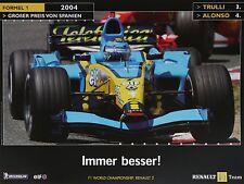 Renault F1 Team R24 Fernando Alonso 2004 Promotion Formula 1 Poster Double Sided Automobilia Accessoires & Fanartikel