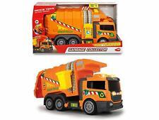 Dickie Toys 203308383 Garbage Müllauto mit Licht-& Sound 39 cm orange
