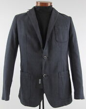 Men's HUGO BOSS Gray Black Cotton + Jacket Blazer 40R 40 Regular NWT NEW