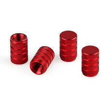 4PCS Red Anodized Aluminum Tire/Wheel Air Pressure Valve Stems Caps
