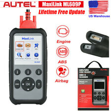 MaxiLink ML609P AL619 OBD2 Automotive Diagnostic Scan Tool ABS SRS Airbag Engine