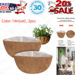 Thick Coco Coir Liners for Hanging Planter Basket, 2pcs 14 Inches 14in(set)