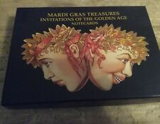 Mardi Gras Invitations of the Golden Age Notecards
