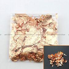 5 Gram Huge Foil Fake Rose Gold Leaf Flake Decoration Art Craft Shower Party New