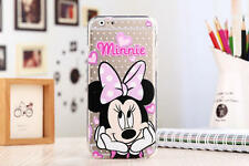 iPhone 6/6s (4'7) funda carcasa gel silicona transparente dibujos disney minnie