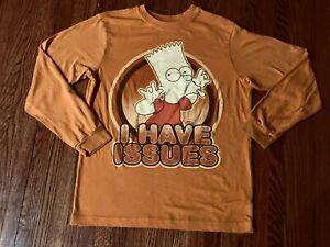 Old Navy Collectabilitees boy's long sleeve orange tee top shirt Bart Simpson  L