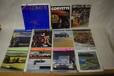 Lot of 9 Corvette News Magazines Vol 7-9, 1963 - 1966, plus 1990 Dealer Brochure