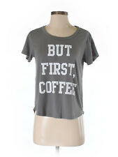 """But First Coffee"" Funny Quote T-shirt Tee by Fifth Sun S w Modcloth Bonus"