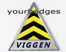 Chrome Enamel Saab Viggen Cone Car Badge 93 95 9000