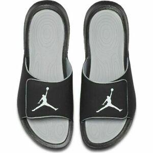 NEW Nike Air Jordan Hydro 6 Men's Slides Black/Grey 881473-011 Sizes