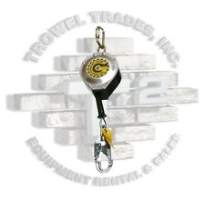 """Guardian Fall Protection 25' Retractable 3/16"""" Galvanized Cable Swivel Top"""