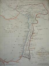 Carte de la Terre Sainte pendant la première croisade  de 1096 à 1144