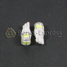 2 x Bombillas 10 LED SMD 5630 T10 W5W Coche, Posicion, Interior... Blanco Xenon