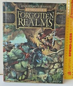 ADVANCED DUNGEONS & DRAGONS ELMINSTER'S FORGOTTEN REALMS RULES SUPPLEMENT HC EXC