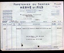 """PARIS (XIX°) USINE à PAPIER / PAPETERIES DU SENTIER """"HERVE & Fils"""" en 1952"""
