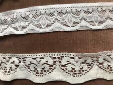 Vintage ASSTD Blanc & crème dentelle coton étagère bordure, Intérieur Projet,