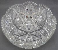 ABP American Brilliant Period Strawberry Diamonds & Hobstars Cut Crystal Bowl