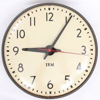 "1960s Vintage IBM 15"" / 40CM School Slave Wall Clock Model 95926 Made in USA"