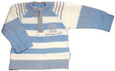 Pull pour bébé garçon, laine bleu à rayures, 12 mois