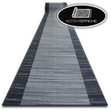 Robuster Teppich Läufer auf Gummi STREIFEN anthrazit Breite 67,80,100cm, stabil