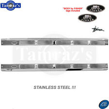 70-81 for GM F Body Door Sill Scuff Kick Plate STAINLESS STEEL with RIBS Pair
