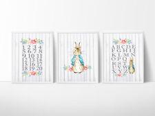 Peter Rabbit Nursery Bedroom Decor Kids Wall Prints, A4 Prints Lily Bobtail