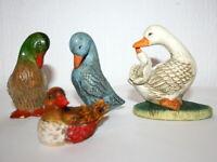 Konvolut Enten Porzellan Steinenten Sammlungauflösung Vier Enten Sammler
