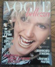 *** VOGUE ITALIA  BELLEZZA MAGAZINE December 1985