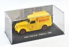 """Die Cast """" Fiat 1100 Elr - Pirelli - 1952 """" Fahrzeuge Werbung 1/43"""
