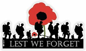 Lest We Forget Remembrance Day Sticker, Poppy Flower Rembrance Day From Home