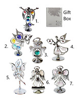 Crystocraft Angel Fairies Crystal Religious Ornament Swarovski Element Gift Box