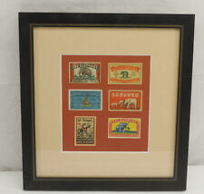 6 Vintage Elephant Brand Safety Matches Advertising Matchbox Labels