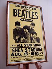 THE BEATLES SHEA STADIUM 1965 FRAMED CONCERT TOUR POSTER