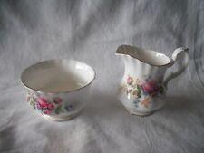 More details for moss rose cream jug & sugar bowl by royal albert