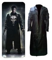 Punisher War Zone Thomas Jane Black Leather Trench Coat Jacket