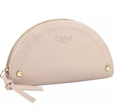 CHLOE PARFUM Beige Zippered Cosmetic Bag / Makeup / Pouch NEW IN BOX