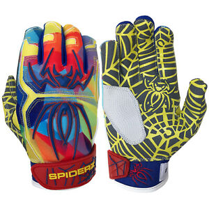 Spiderz 2021 Hybrid Baseball/Softball Batting Gloves - Autism Awareness - Large