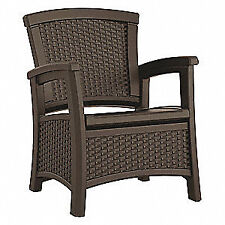SUNCAST COMMERCIAL Club Chair,Brown,Plastic,Ergonomic, BMCCCPD1800, Brown
